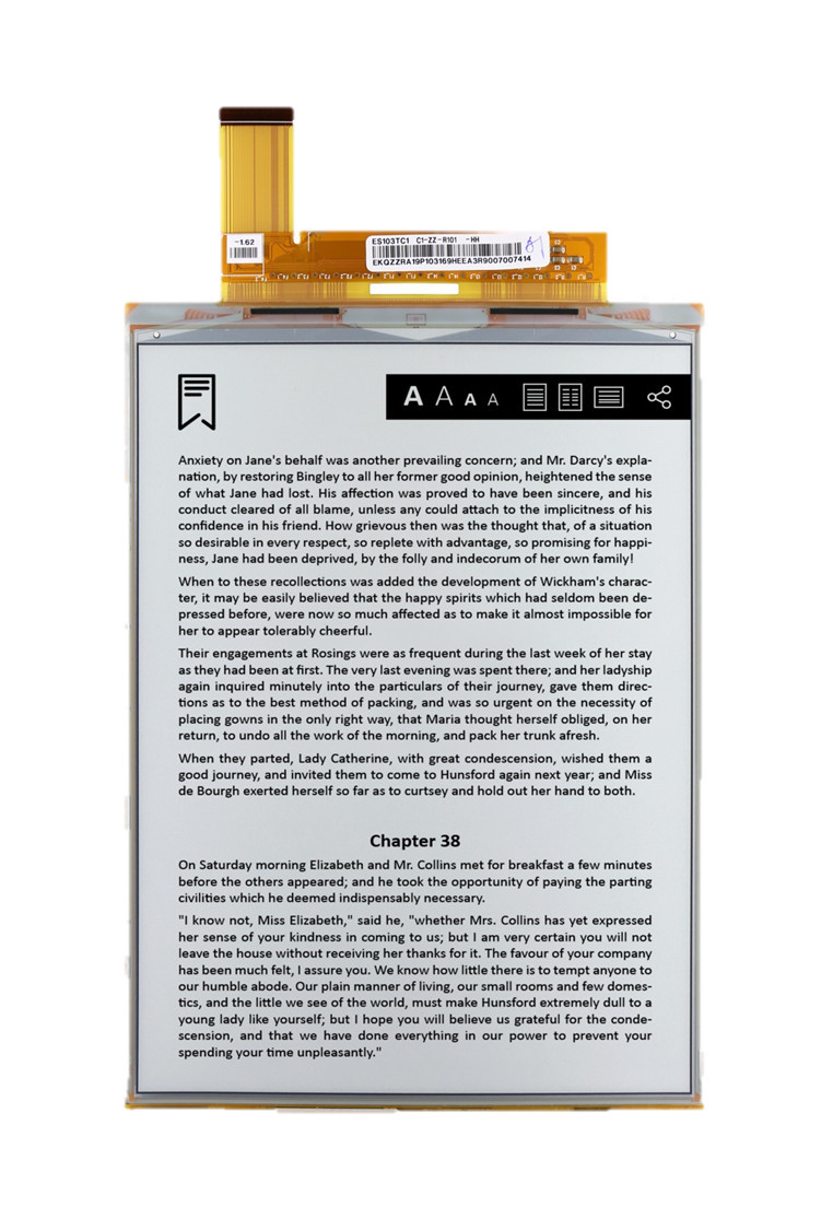 Es103tc1 Electronic Paper Display From E Ink Co 16 Gray Level Working Of Technology 103 1404x1872