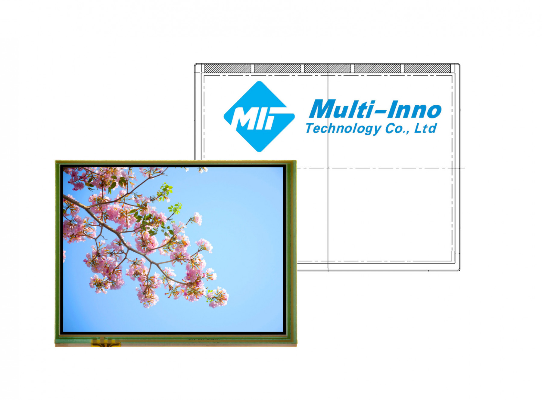 MI0350AET - LCD-TFT display from Multi-Inno Co. (3.5 inches, 320x240, SPI controller, resistive touch screen)