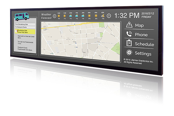 SSD1393-A - Industrial monitor from Litemax Co. (13.9 inches, 1280x398, LED inverter, an AD Board)