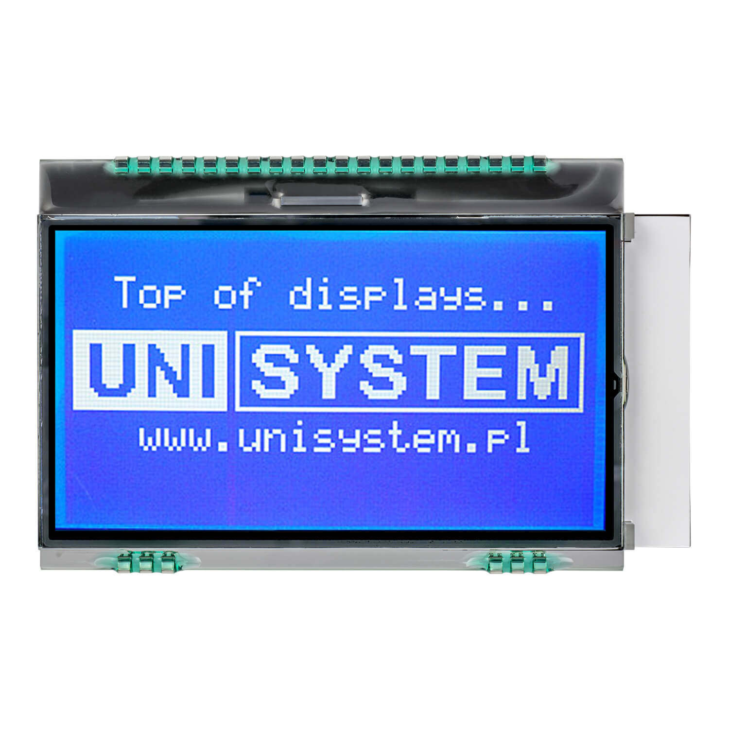 WDO0066-TML#06 - Graphic LCD display from Winstar Co. (128x64, transmissive, negative STN, blue background, white content)