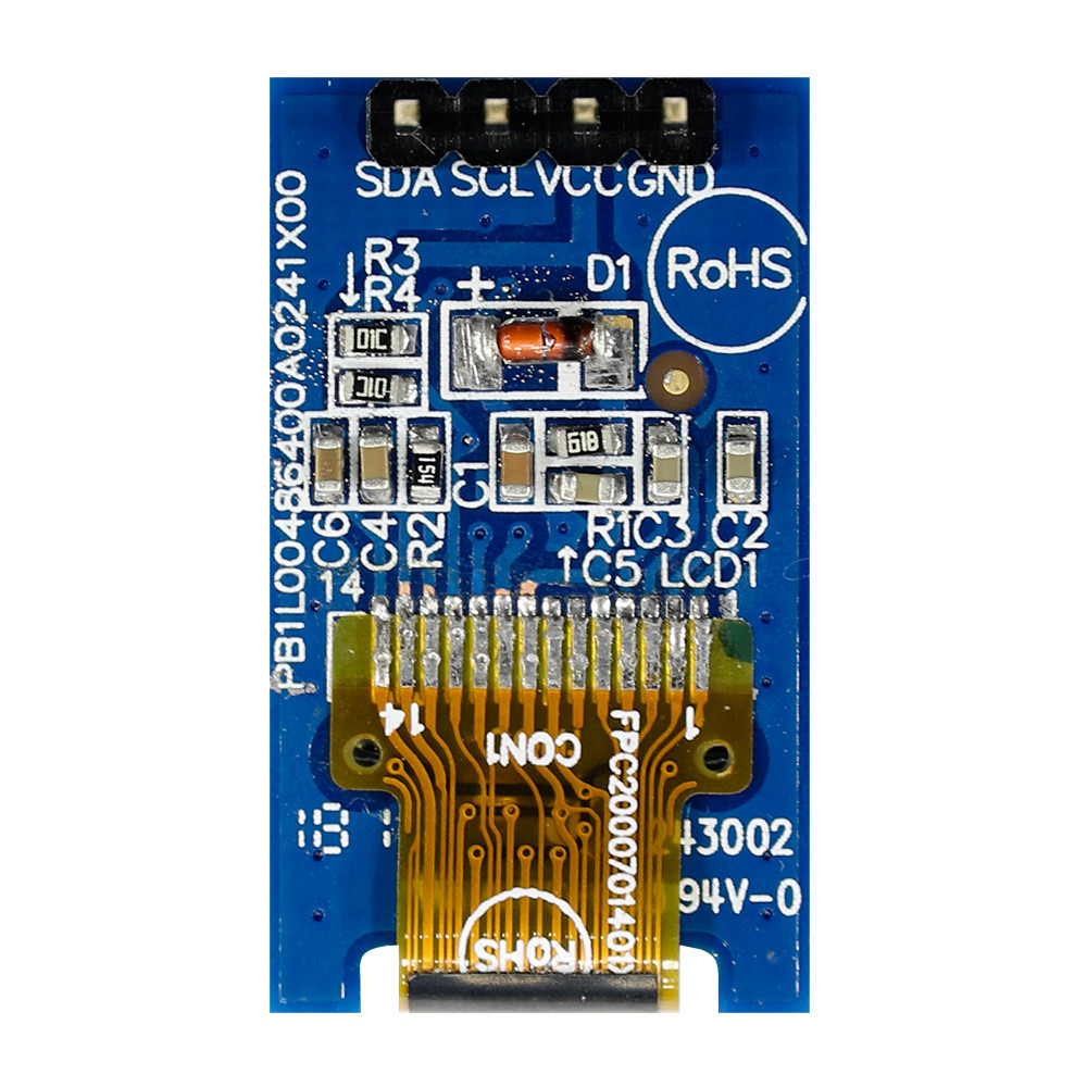 WEA004864AWPP3N00000 - Winstar Longlife OLED graphic display module (white, 48x64, COG - Chip on Glass)