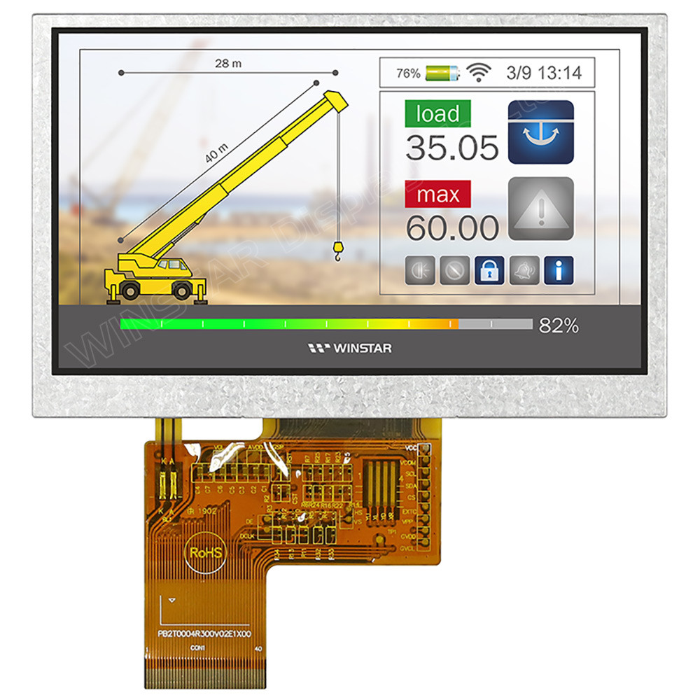 WF43VSIAEDNN0# - LCD-TFT display from Winstar Co. (4.3 inches, 480x272, no controller)