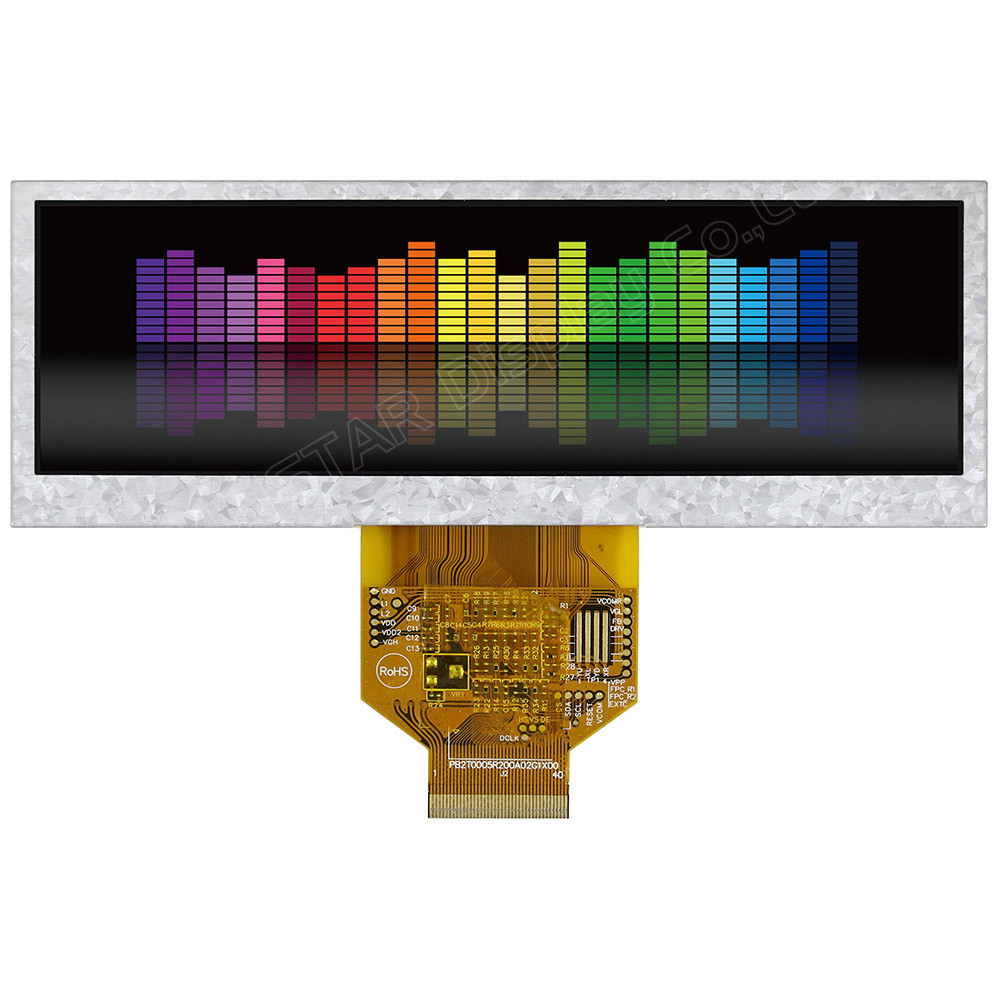 WF52ATLASDNN0# - LCD-TFT display from Winstar Co. (5.2 inches, 480x128, no controller)