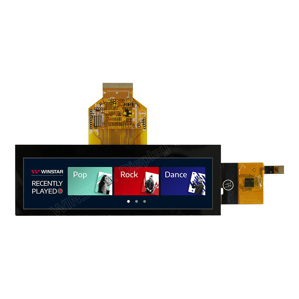 WF52BTIASDNG0# - LCD-TFT display from Winstar Co. (5.2 inches, 480x128, no controller, capacitive touch screen)