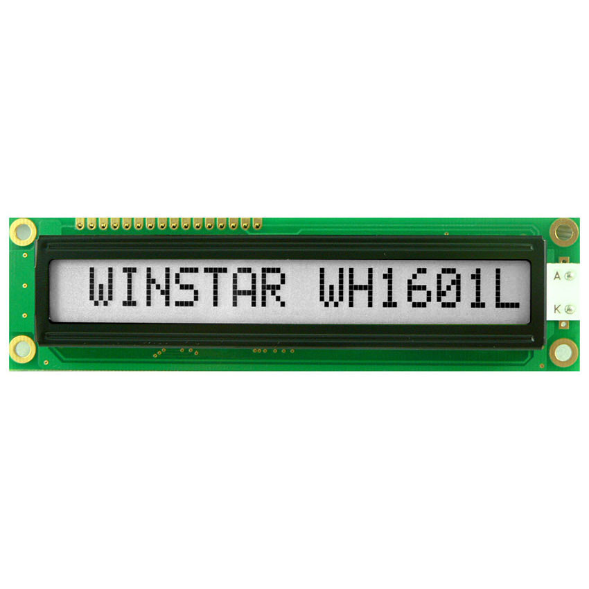 WH1601L-TFH-JT# - Character LCD display from Winstar Co. (16 characters x 1 line, transflective, positive FSTN, white background, black characters)