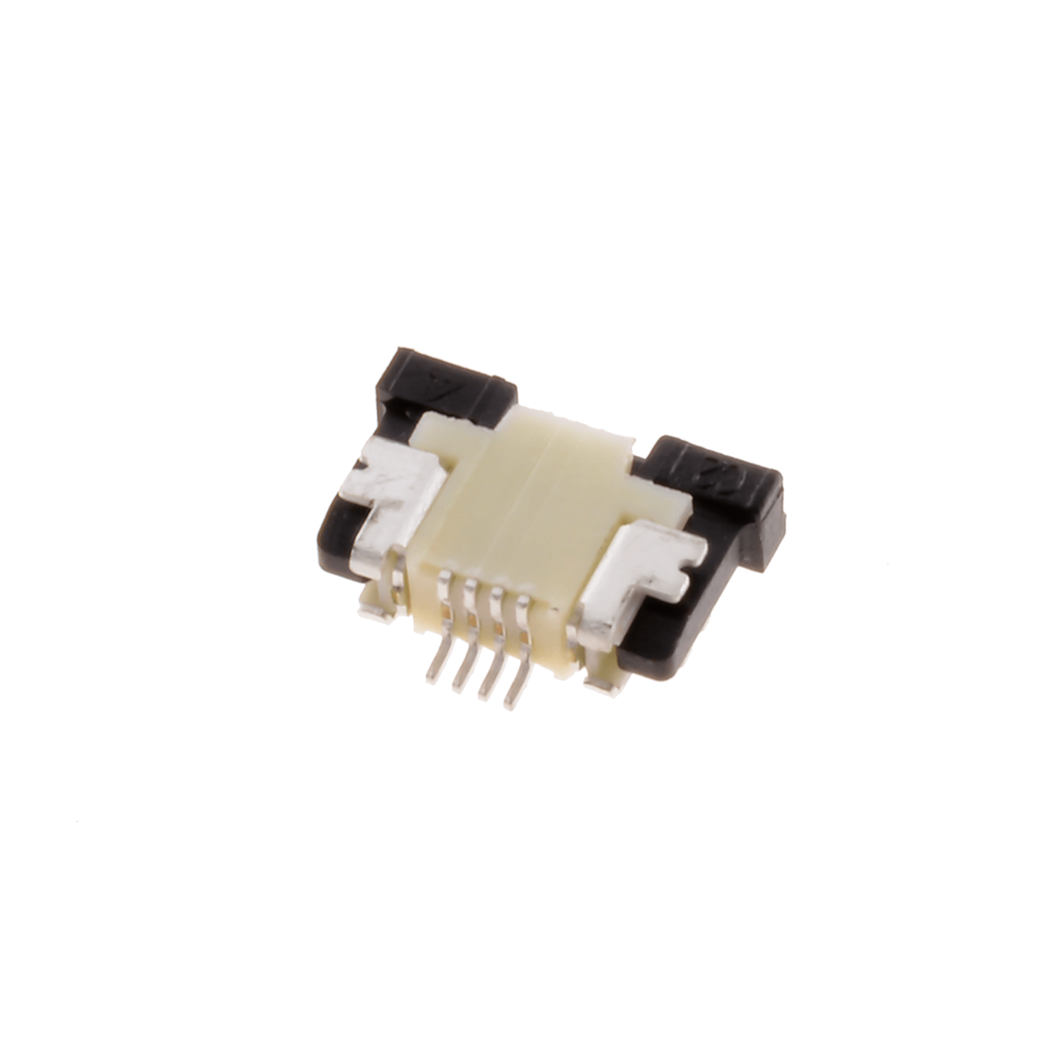 ZIF0504UH – ZIF connector, 0.5 mm pitch, 4 pins, upside contact