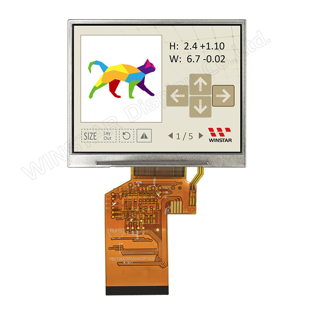WF35XTYACDNN0# - LCD-TFT display from Winstar Co. (3.5 inches, 320x240, no controller, an IPS screen)