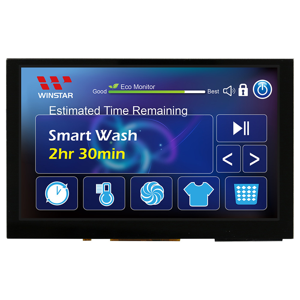 WF50BTIFGDHGV# - LCD-TFT display from Winstar Co. (5.0 inches, 800x480, TFP401 controller, capacitive touch screen)