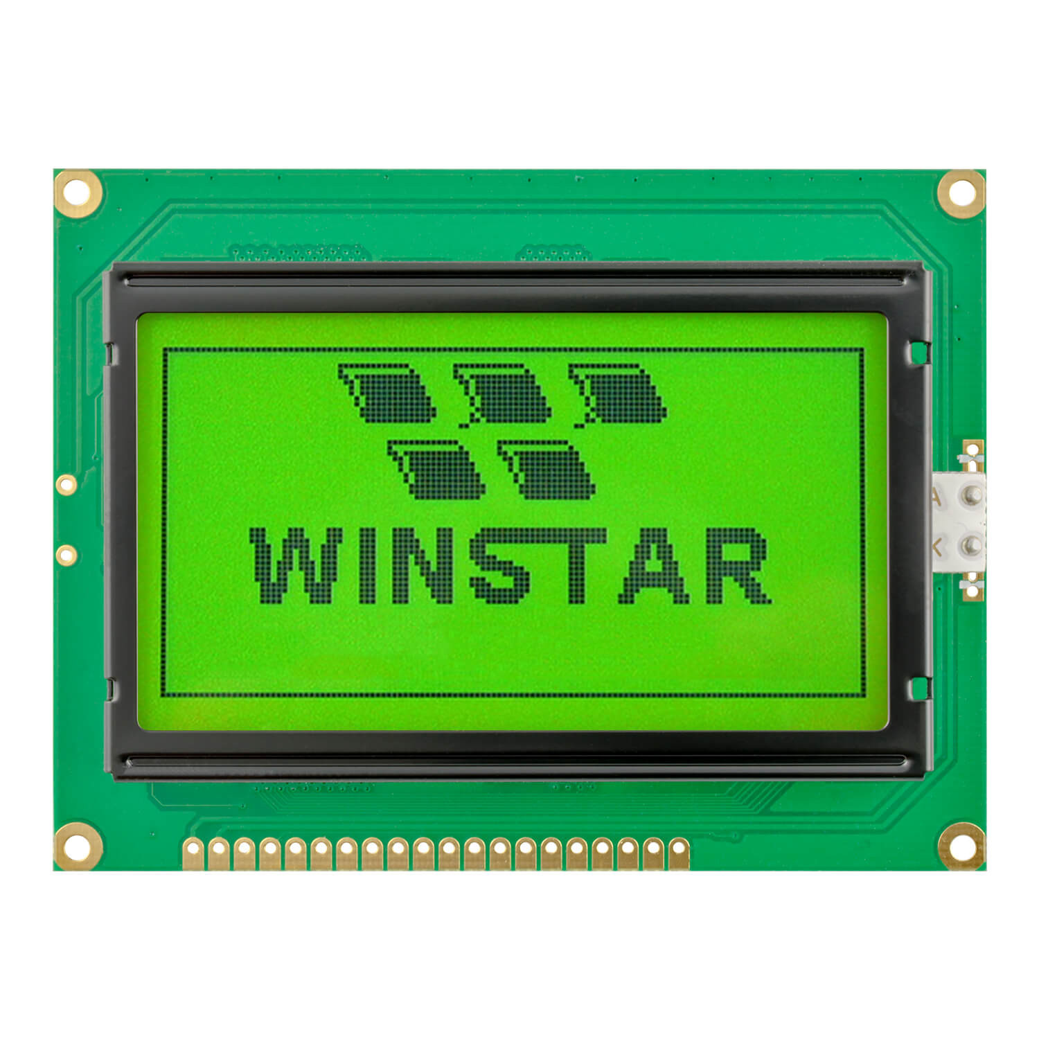 WG12864A-YYH-T#N - Graphic LCD display from Winstar Co. (128x64, transflective, positive STN, yellowgreen background, black content)