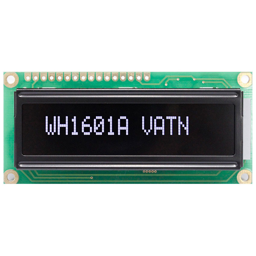 WH1601A-SLL-CWV# - Character LCD display from Winstar Co. (16 characters x 1 line, transmissive, negative VA, black background, white characters)